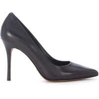 Pantofi cu Toc Tiegan Black Leather Décolleté Femei