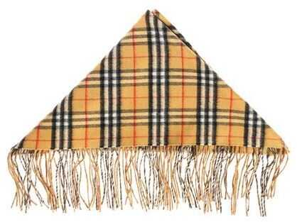 Burberry Scarf With Vintage Check Print Beige