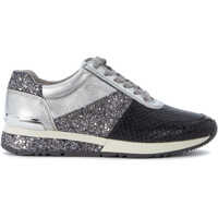 Tenisi & Adidasi Michael Kors Allie Silver Leather And Dark Grey Sneaker