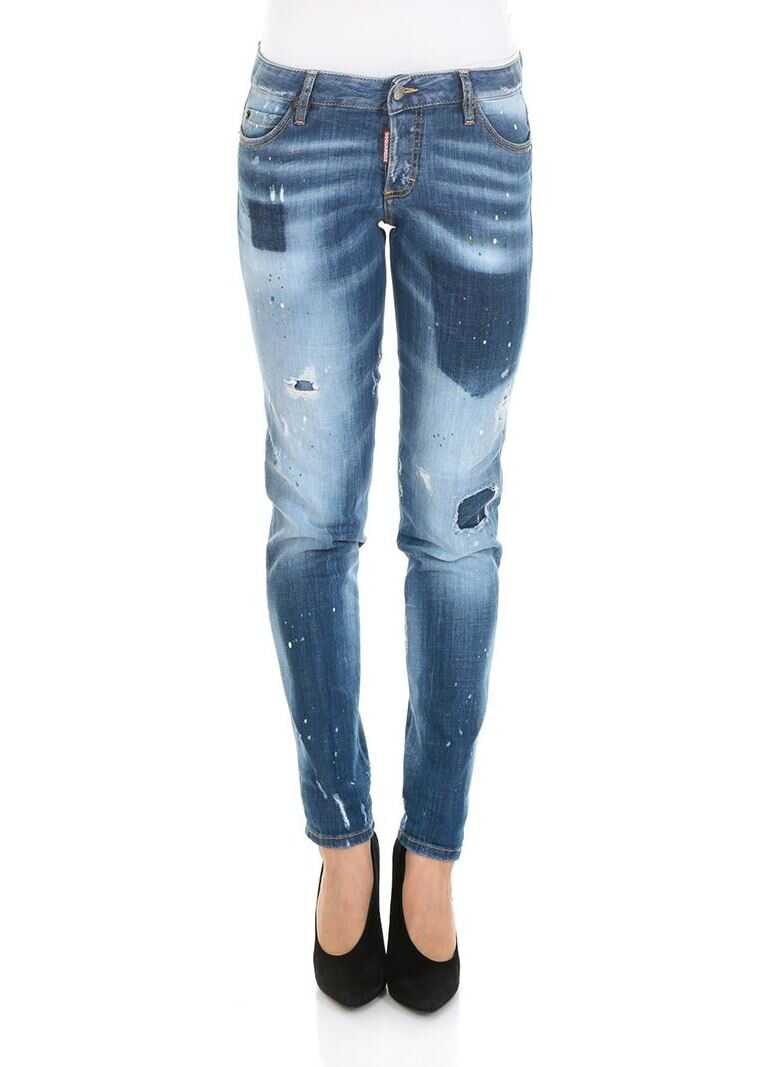 DSQUARED2 Light Pocket Shadow Jennifer Jeans Blue
