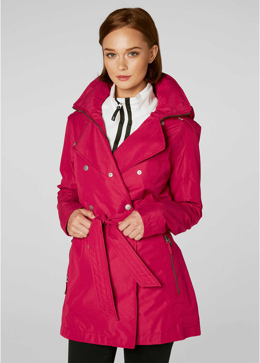 Helly Hansen WELSEY TRENCH-Jungle Green Persian Red