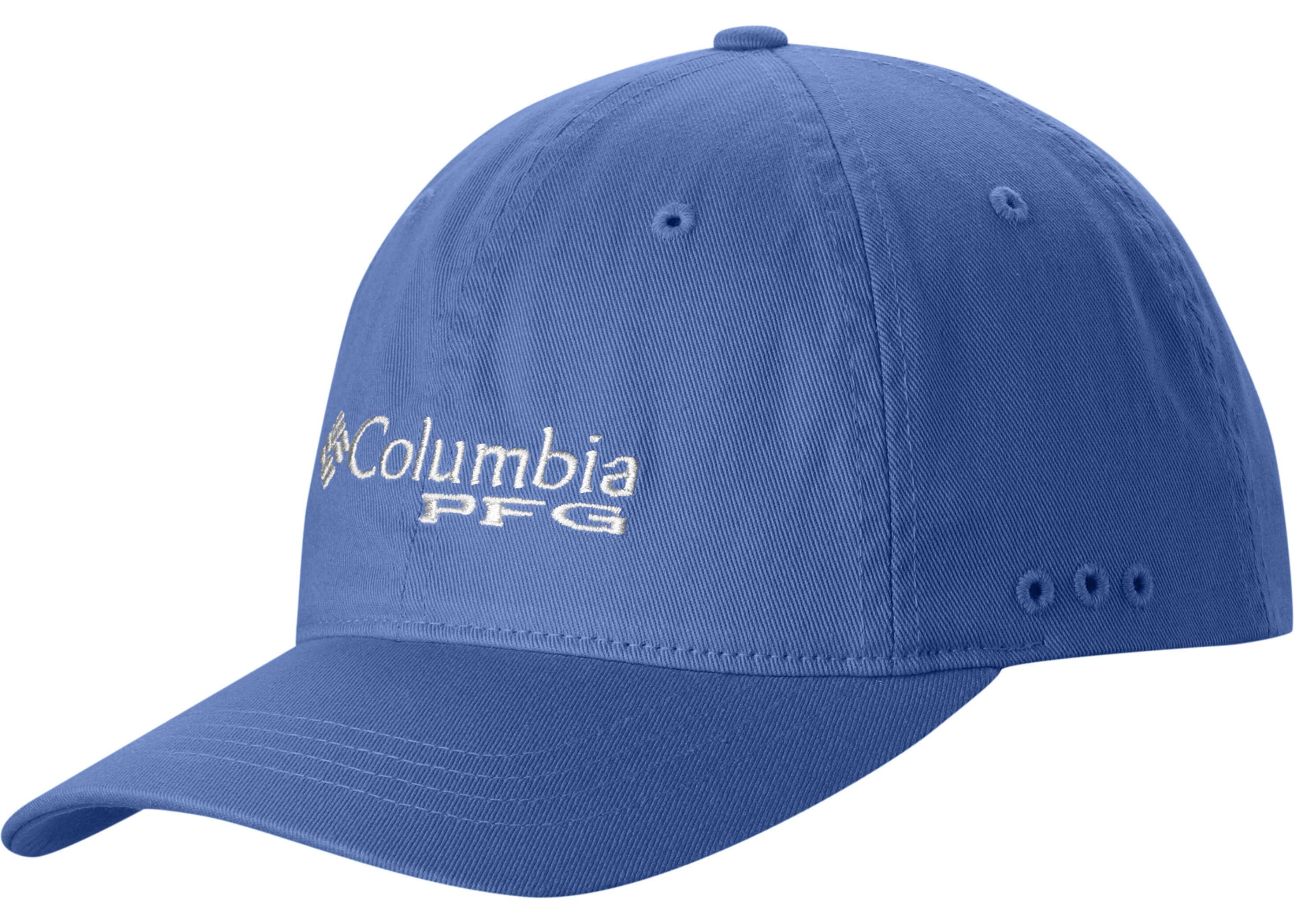 Columbia PFG Bonehead ™ Ballcap-Jude Lime Vivid Blue, White
