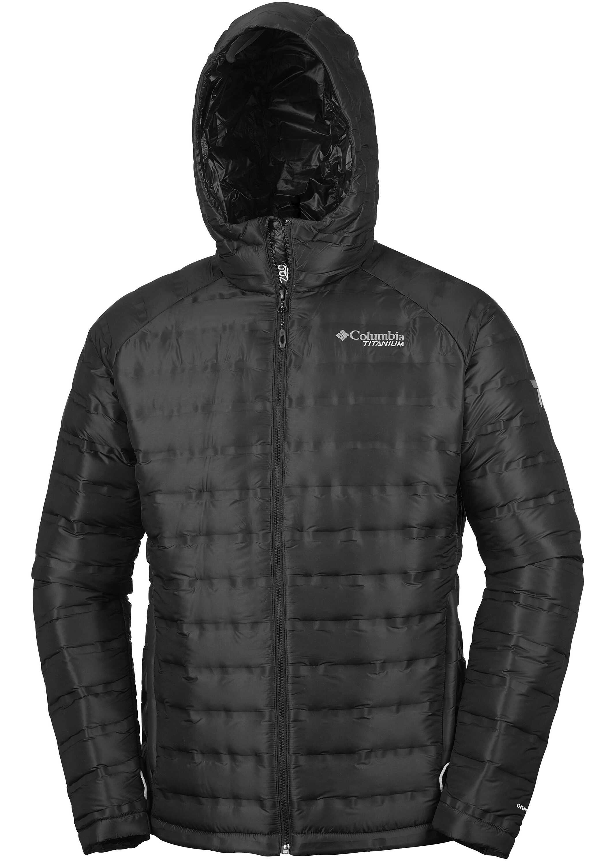 Columbia Titan Ridge Down Hooded Jacket-Black Black