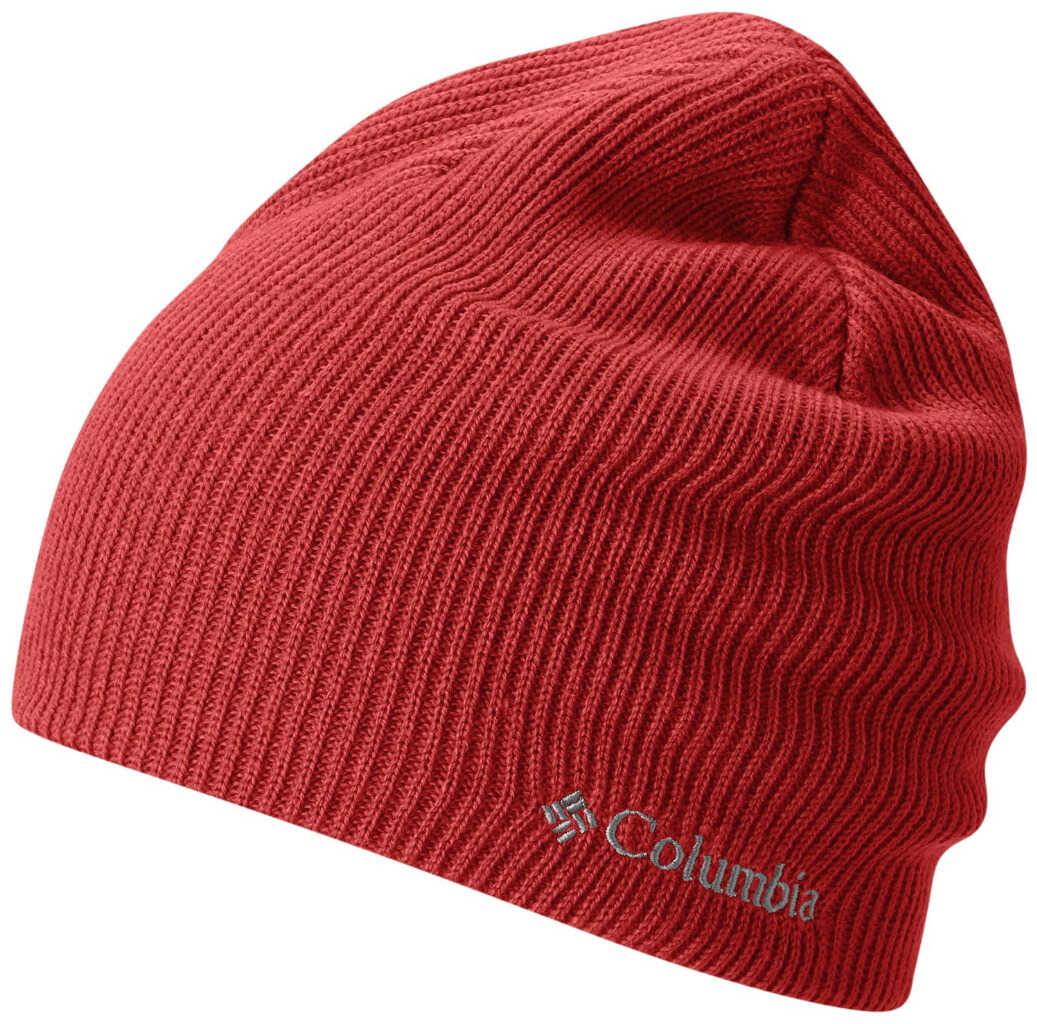 Columbia Whirlibird Watch Cap Beanie-Black,Black Sail Red