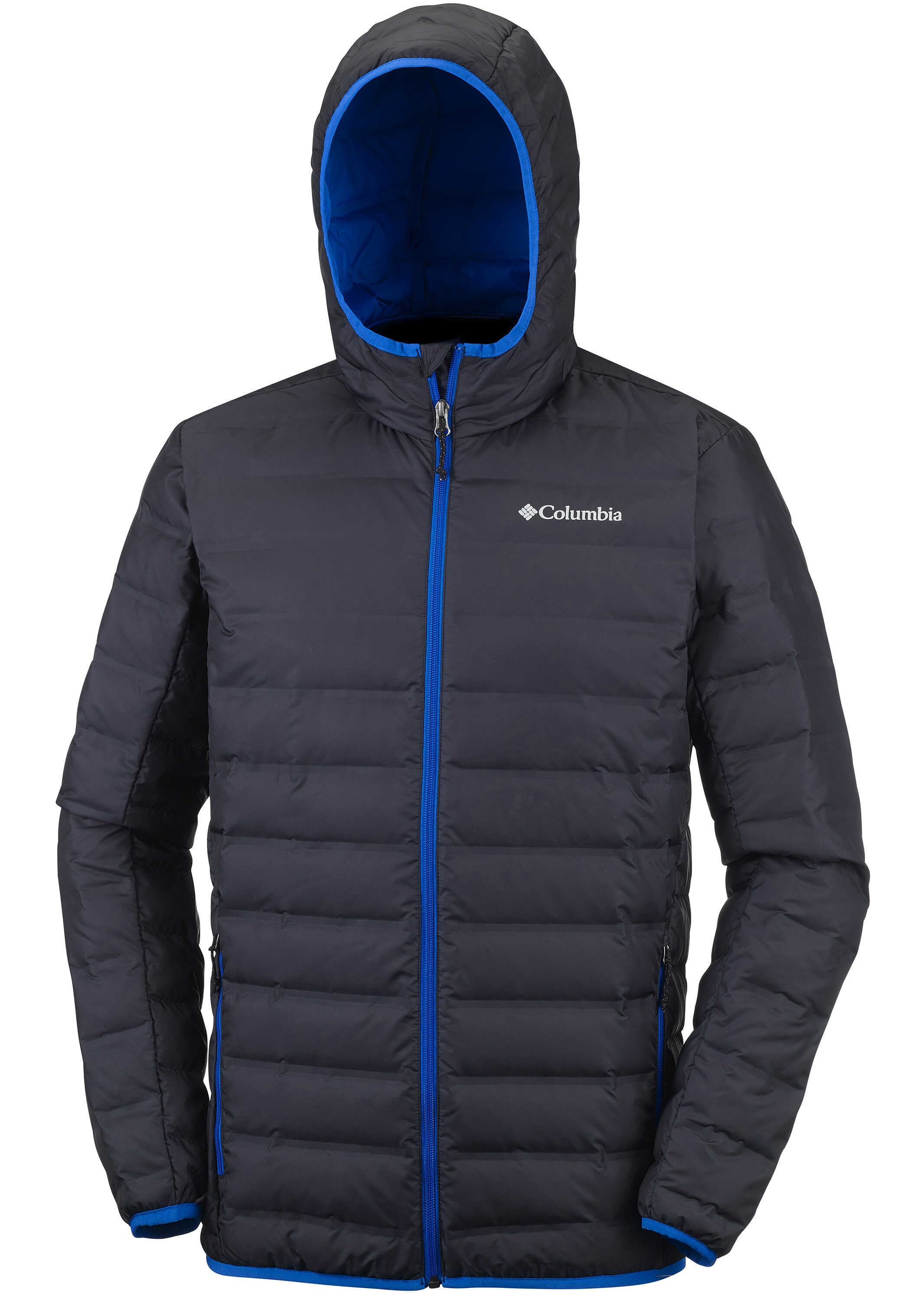 Columbia Lake 22 Down Hooded Jacket-Deep Rust/Hot Pepper Black/Super Blue