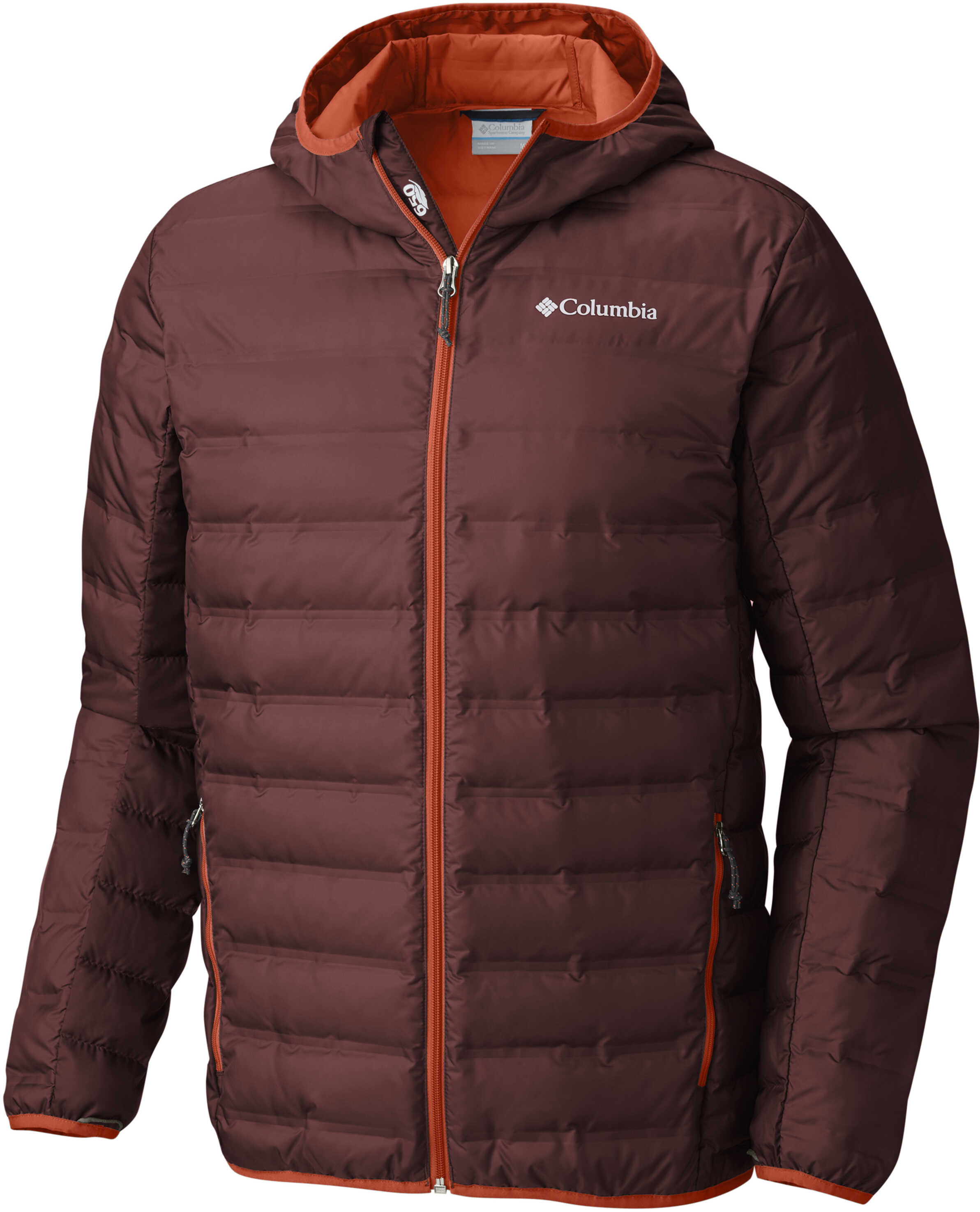 Columbia Lake 22 Down Hooded Jacket-Deep Rust/Hot Pepper Deep Rust/Hot Pepper