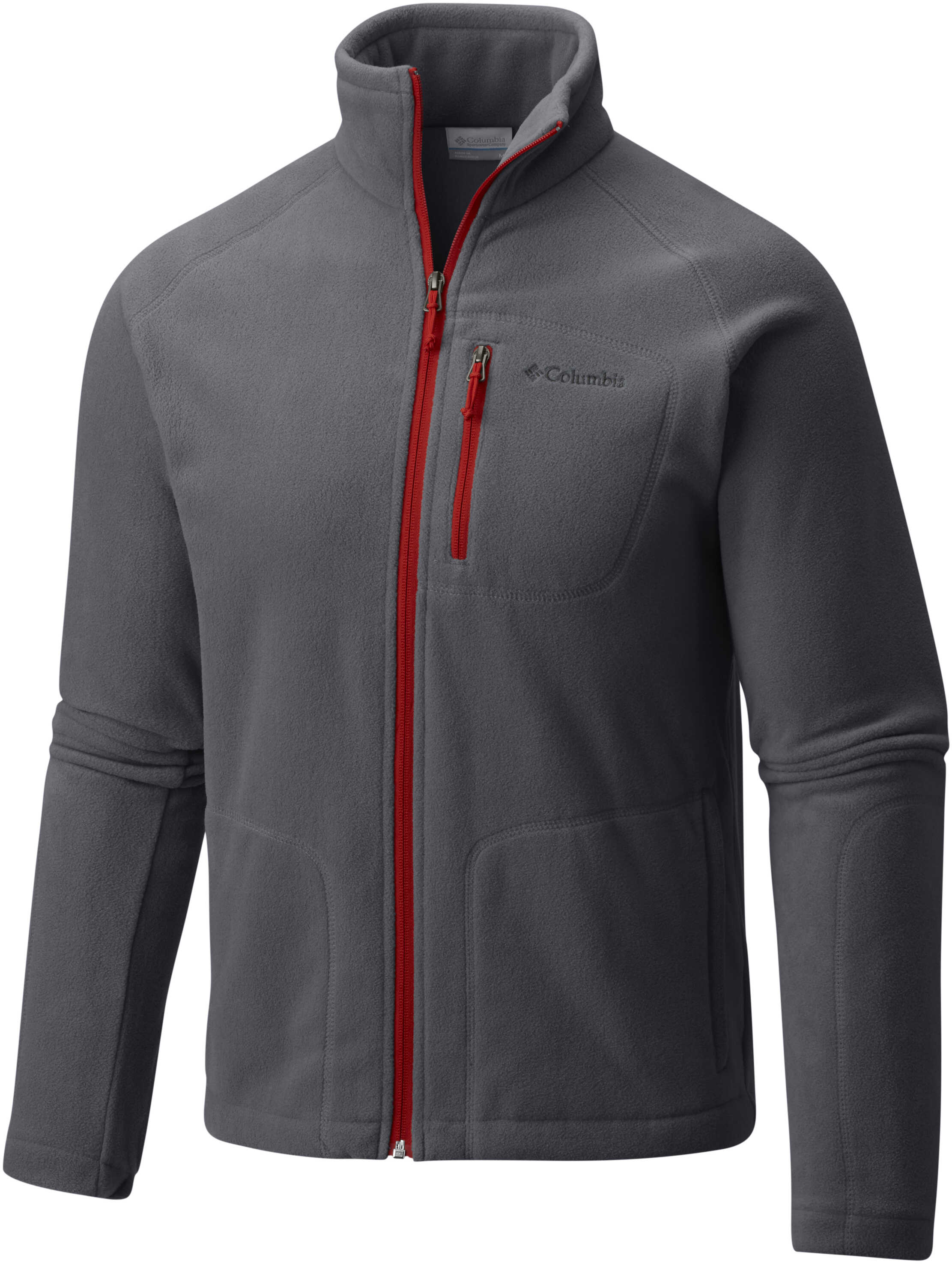 Columbia FAST TREK II FULL ZIP-Zinc/Voltage Graphite/Mountain Red