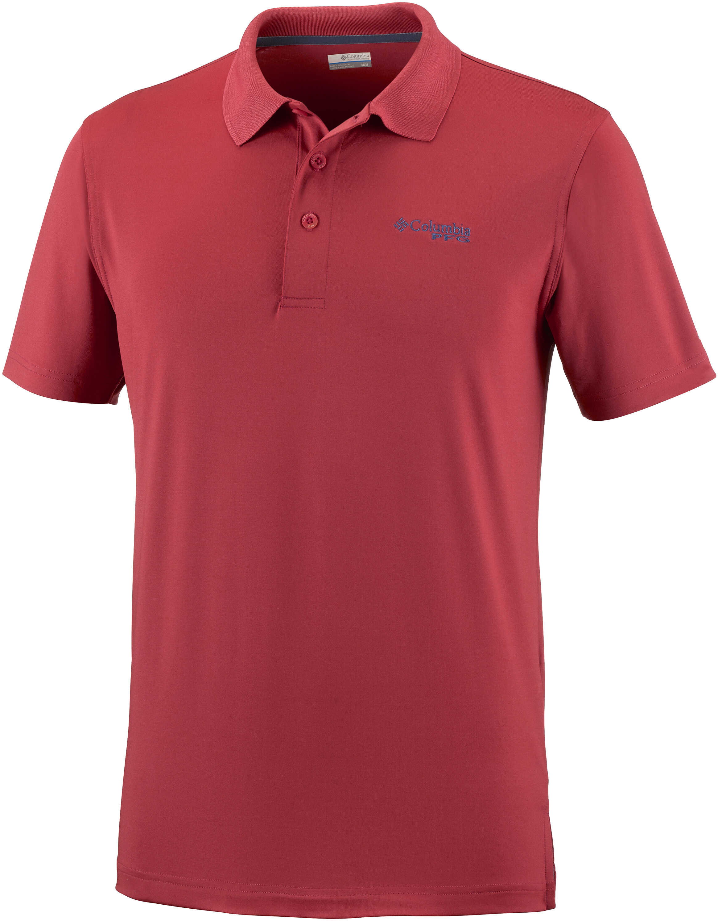 Columbia PFG Low Drag ™ Polo-Collegiate Navy Sunset Red