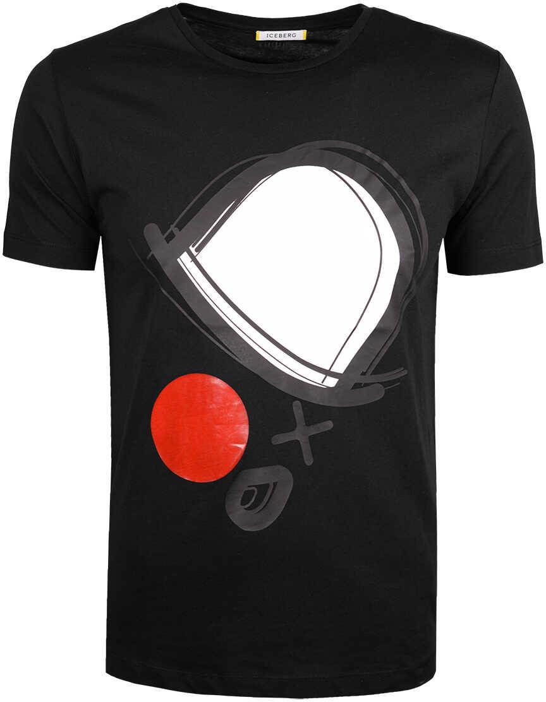 Iceberg T-shirt Czarny