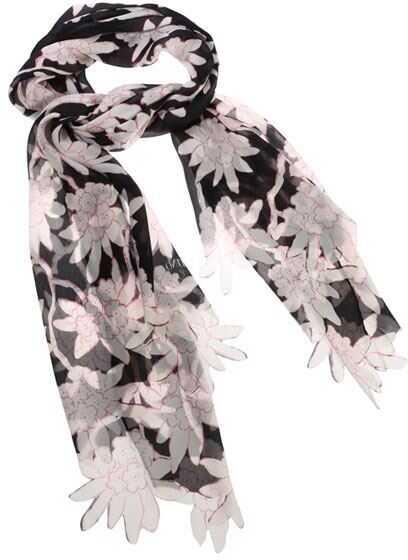 Valentino Garavani Floral Pattern Scarf Black