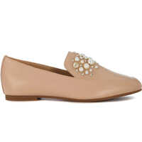 Mocasini Michael Kors Gia Pale Pink Flat Shoes With Pearls