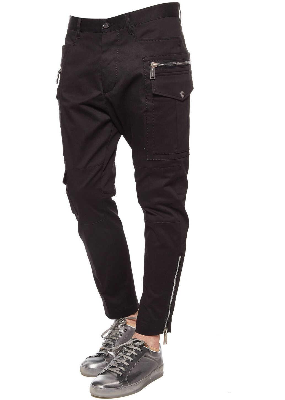 DSQUARED2 Cargo gabardine pants Black