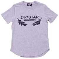 Tricouri Heather Grey T-Shirt With 24-7 Star Print Baieti
