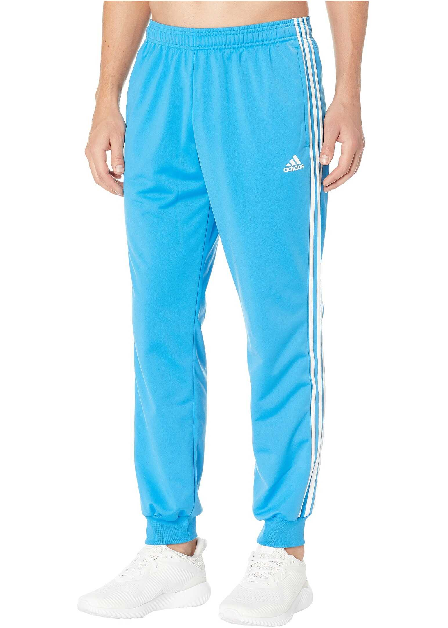 adidas Essentials 3S Tapered Tricot Pants Bright Blue/White
