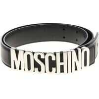 Curele Moschino Moschino Black Belt With Silver Logo
