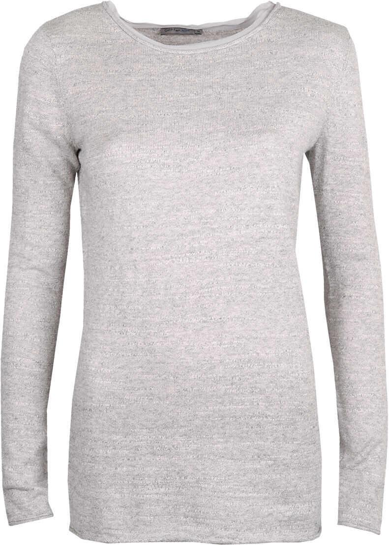 Calvin Klein Sweter Szary melanż