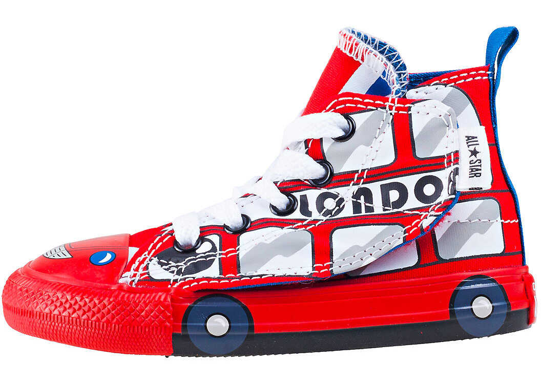 Converse Chuck Taylor All Star Simple Step Hi Toddler Trainers In White Red White