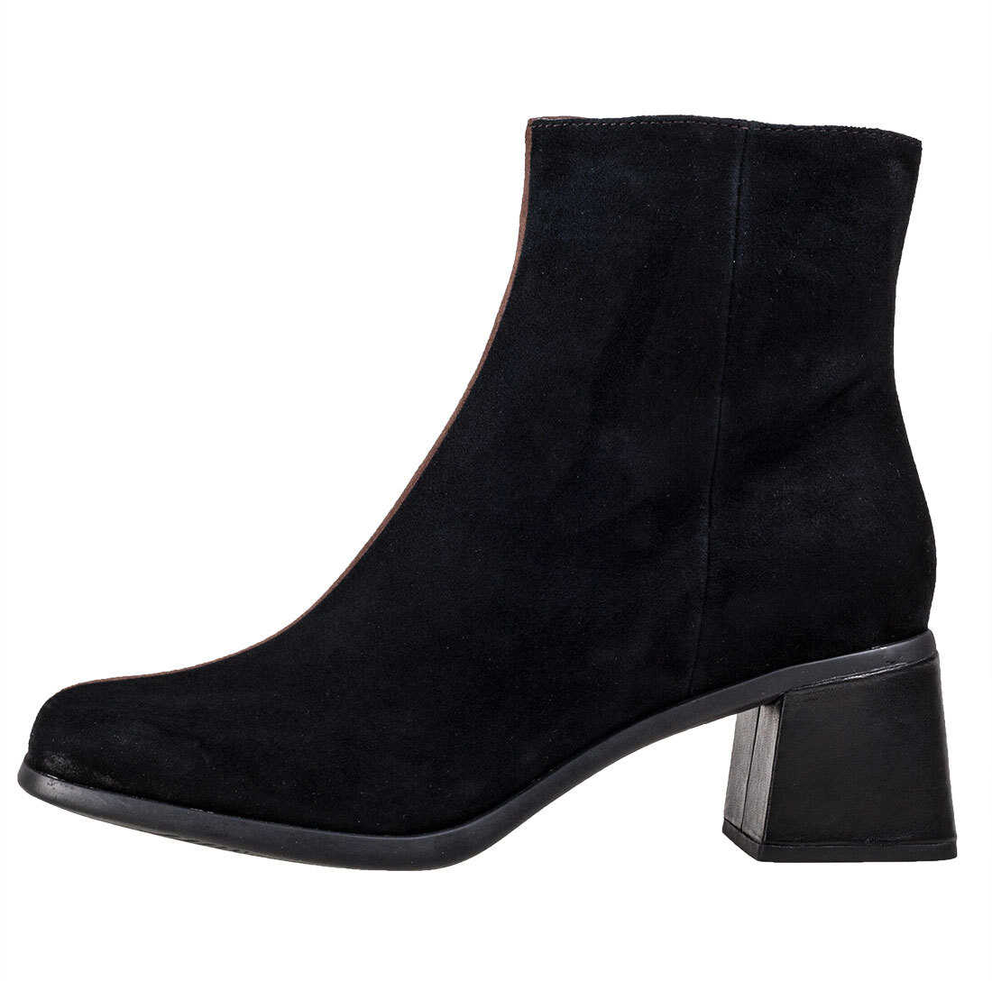 Camper Twins High Ankle Boots In Black Brown Black