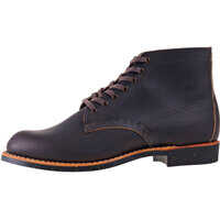 Ghete Merchant Oxford Boots In Ebony Leather Barbati