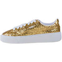 Tenisi & Adidasi Basket Platform Glitter Trainers In Gold Femei