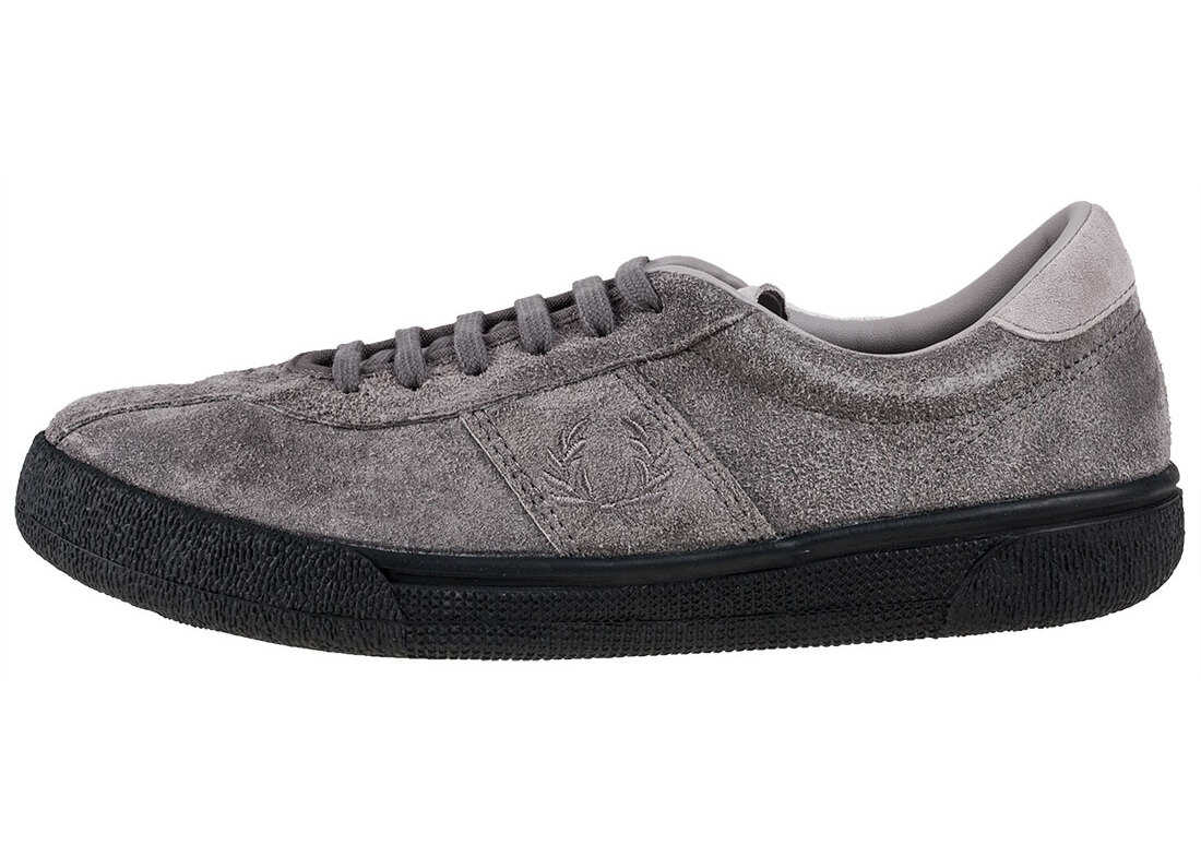 Fred Perry B1 Tennis Shoe Trainers In Grey Grey