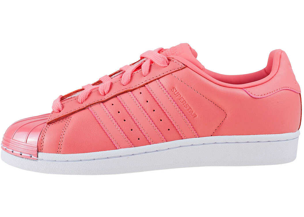 adidas Superstar Metal Toe Trainers In Pink Pink
