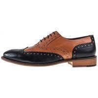 Pantofi Handcrafted Gatsby Brogues In Black Tan Barbati