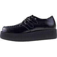 Pantofi T.u.k Viva Hi Sole Creeper Unisex Shoes In Black Barbati