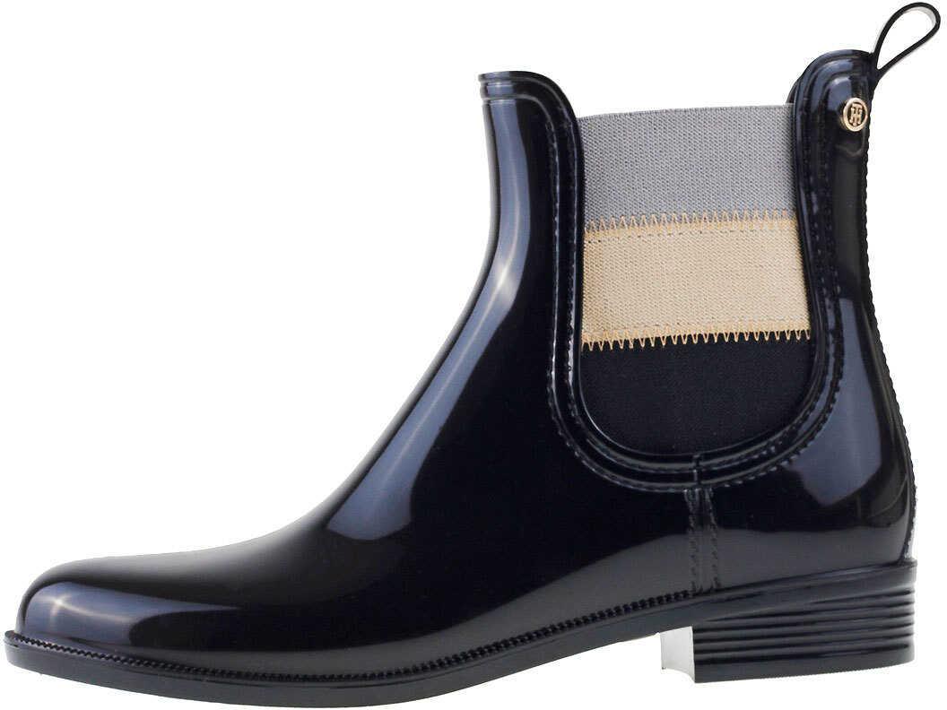 Tommy Hilfiger Odette 16V2 Wellington Boots In Black Black