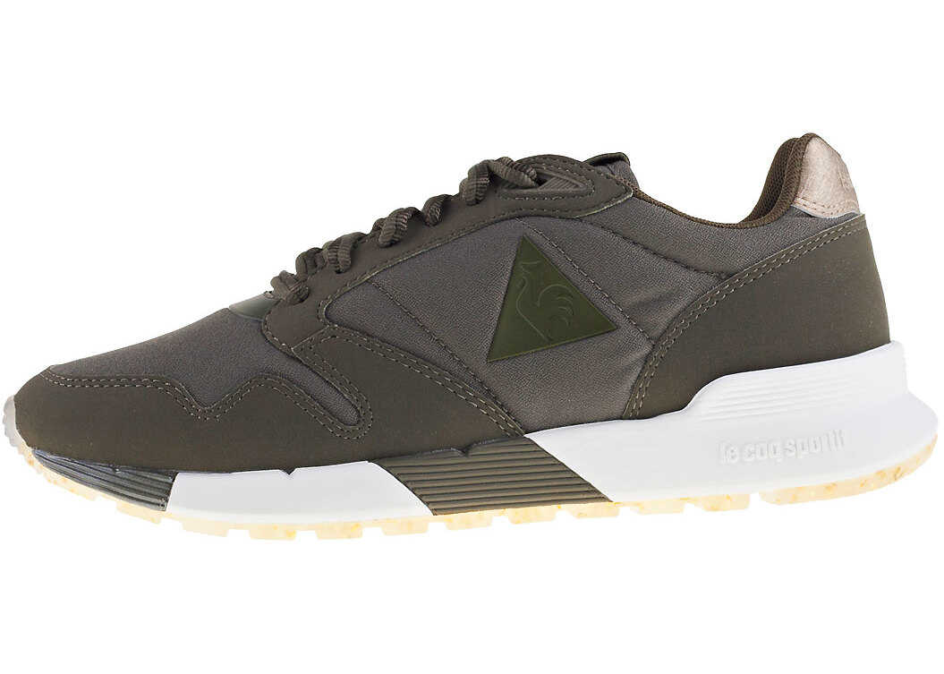 Le Coq Sportif Omega X W Metallic Trainers In Olive thumbnail