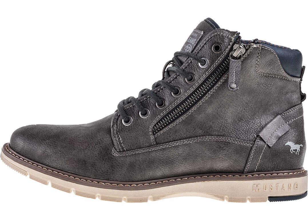 Mustang Lace Up Boot Chukka Boots In Dark Grey Grey