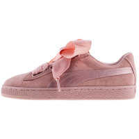 Sneakers Suede Heart Ep Trainers In Pink Peach Femei