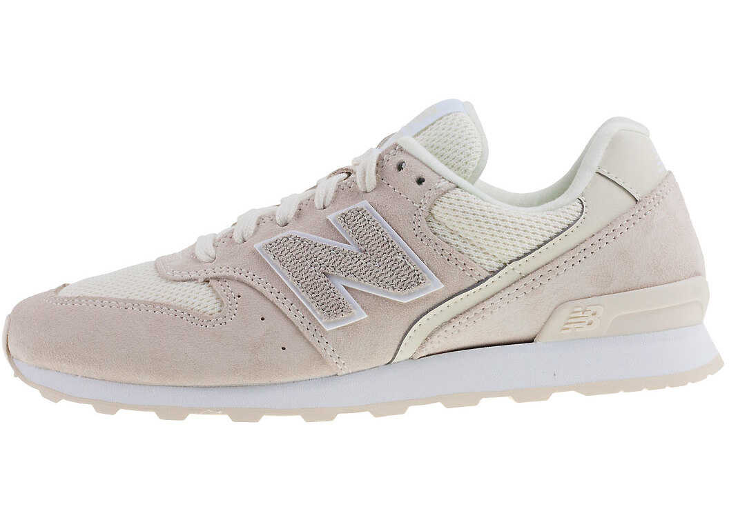 New Balance Classics Wr996 Sport Style Wide Trainers In Off White Beige thumbnail
