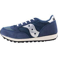 Tenisi & Adidasi Jazz Original Vintage Kids Trainers In Navy Silver Baieti