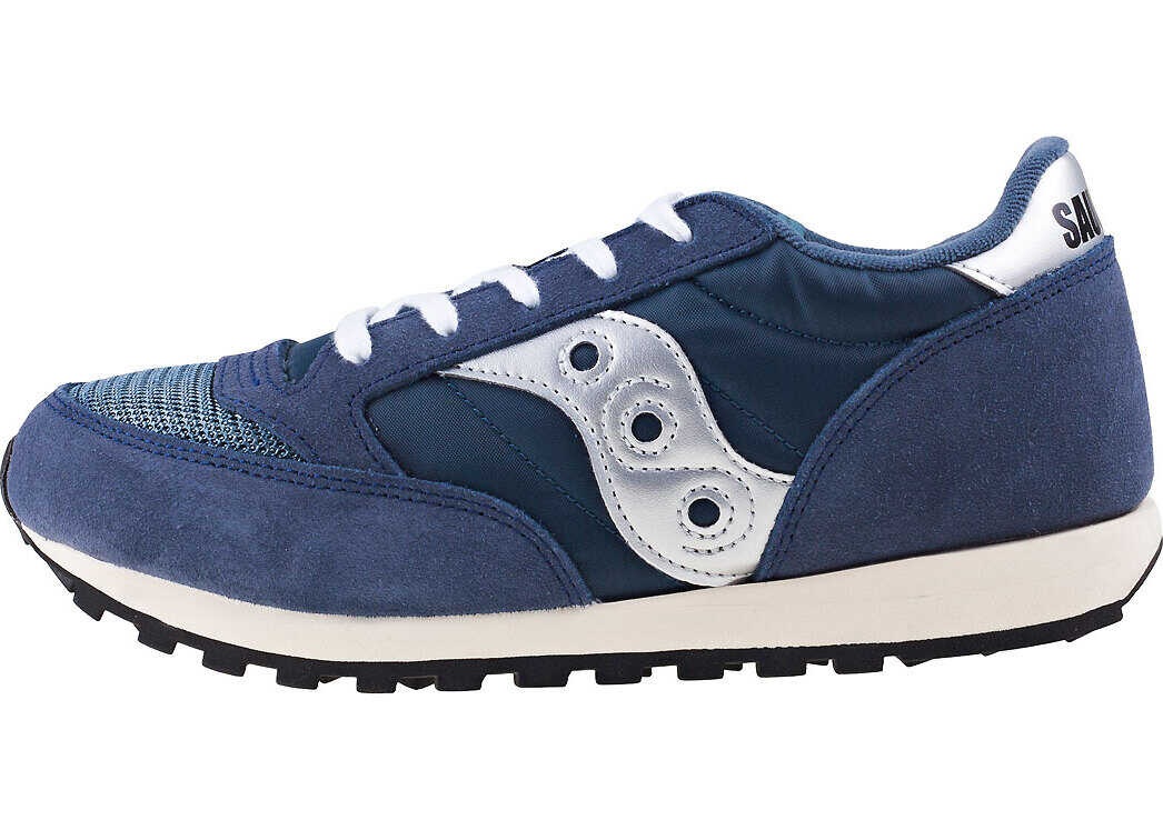 Saucony Jazz Original Vintage Kids Trainers In Navy Silver Blue