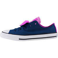 Sneakers Chuck Taylor All Star Double Tongue Ox Kids Trainers In Navy Pink Fete