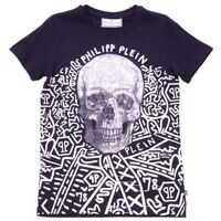 Tricouri Black Printed T-Shirt With Rhinestones Baieti
