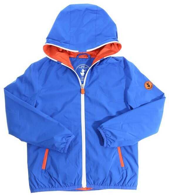 Jachete Baieti Save the Duck Electric Blue Hooded Jacket