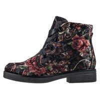 Ghete & Cizme Velvet Print Ankle Boots In Multicolour* Femei