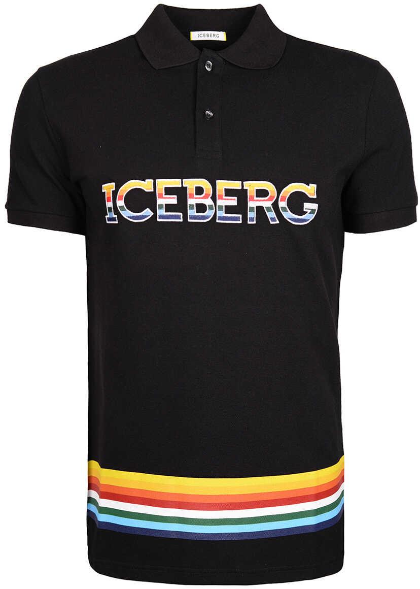 Iceberg Koszulka Polo Czarny