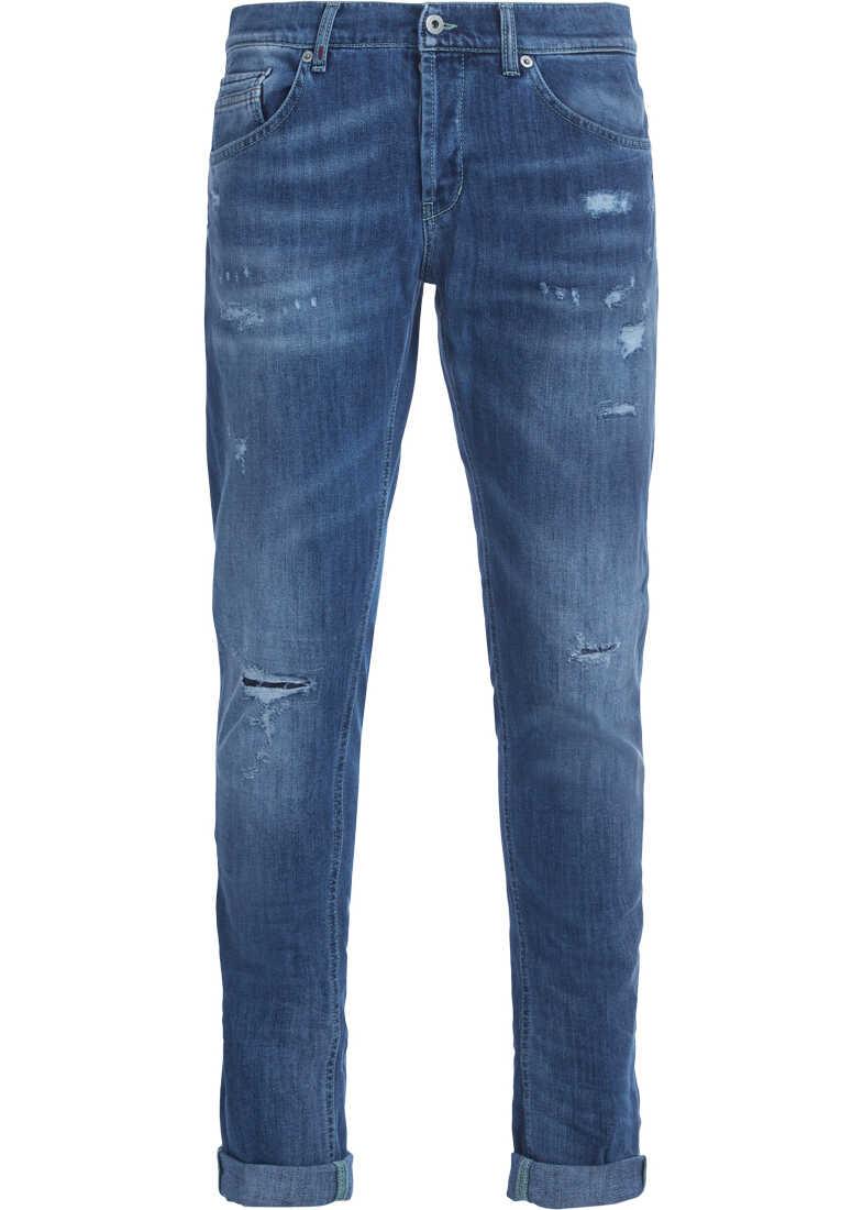Dondup Ritchie Light-Blue Washed Denim Jeans Blue
