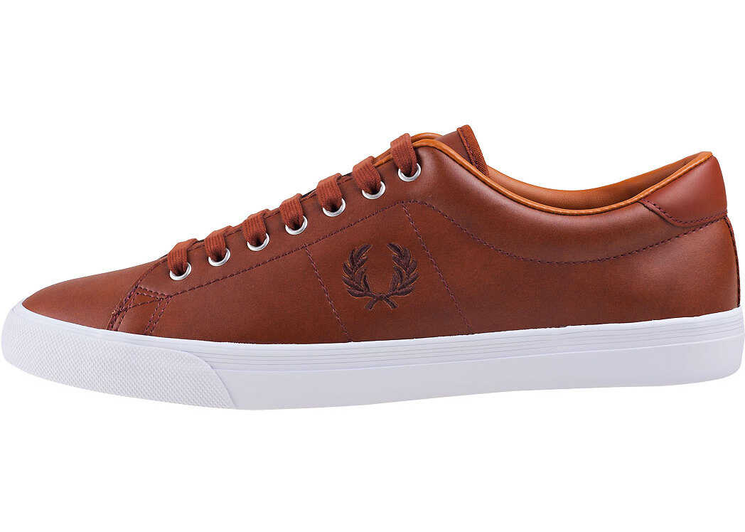 Fred Perry Underspin Trainers In Tan Tan