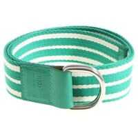 Curele Leisured Green And White Striped Belt Femei