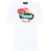 Tricouri Hawaii Print T-Shirt Femei