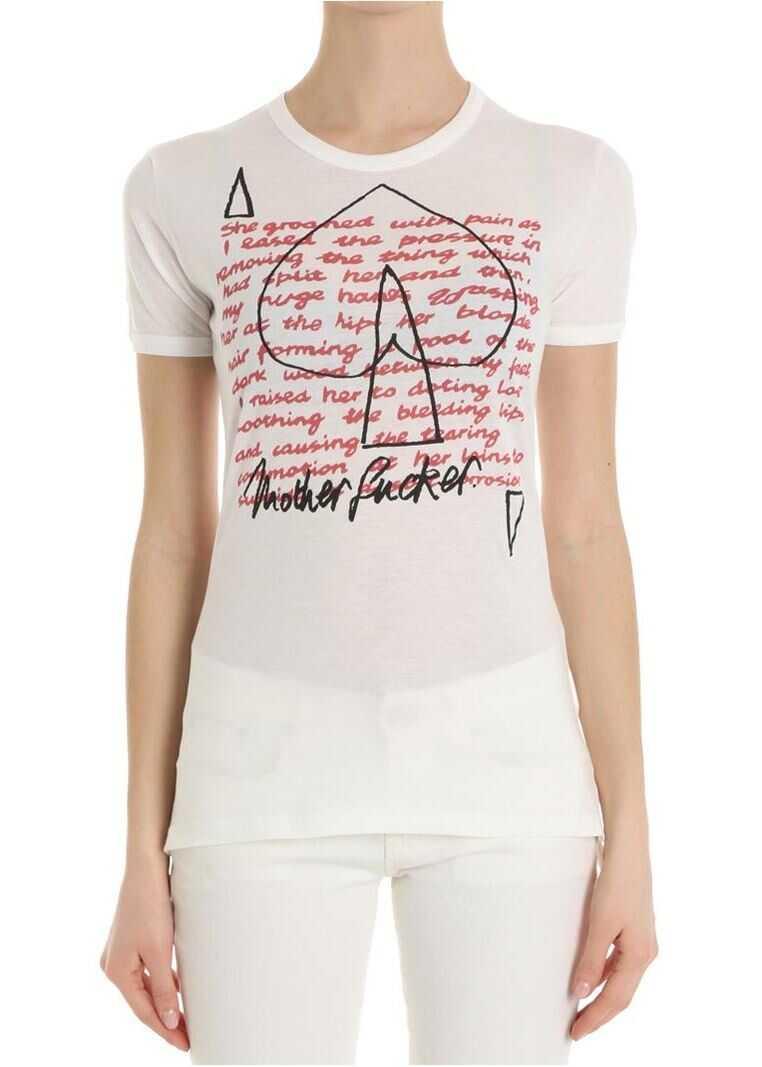 Vivienne Westwood White Unisex Groaned T-Shirt thumbnail