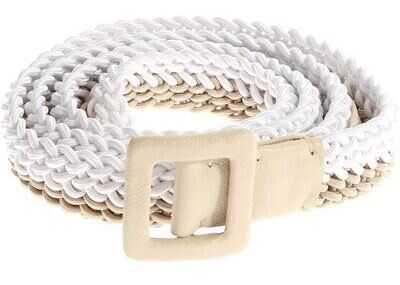 Ermanno Scervino Two-Colored Braided Belt White