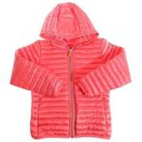 Jachete Coral-Colored Hooded Padded Jacket Fete