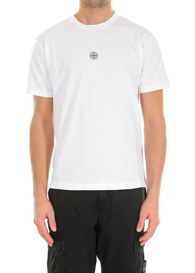 Stone Island White Roundneck T-Shirt White