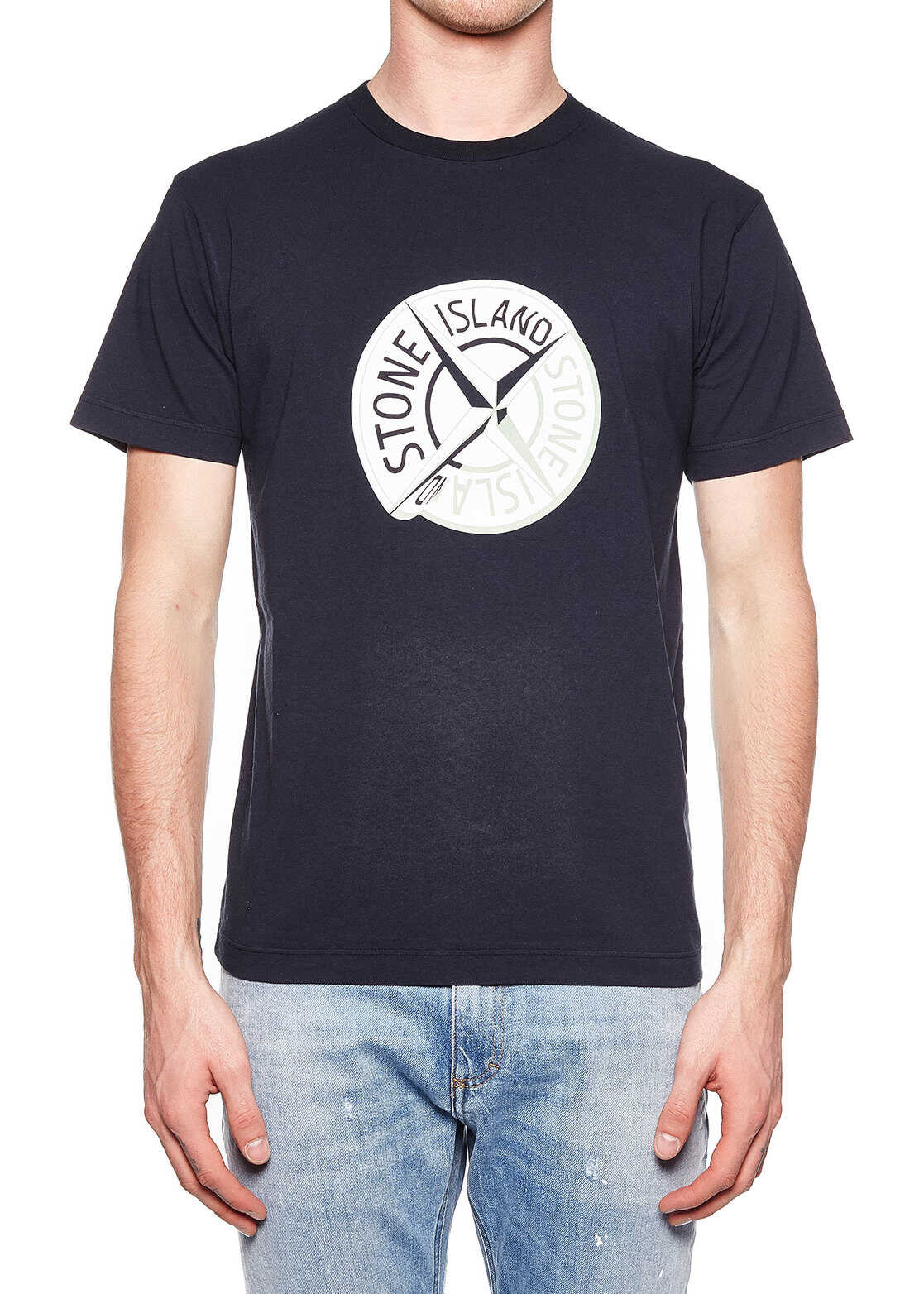 Stone Island T-shirt with logo print Black