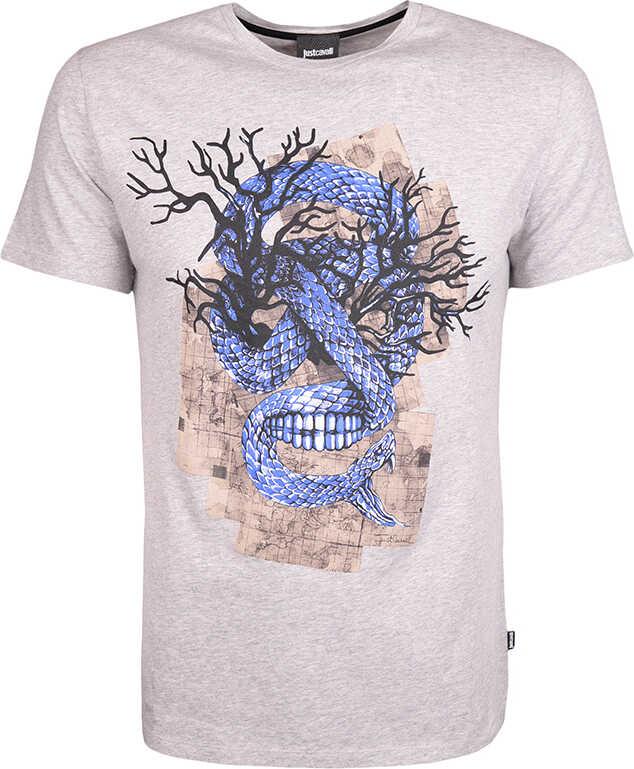 Roberto Cavalli Just Cavalli T-shirt Szary melanż